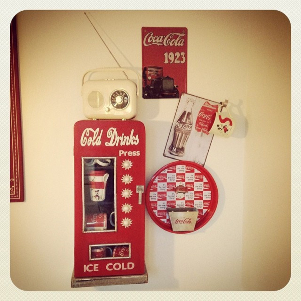 Coca-Cola items are some of the most iconic diner accessories.
