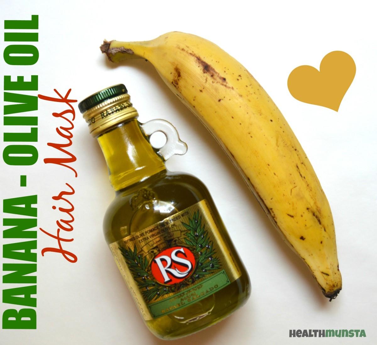 Banana Olive Oil Hair Mask for Damaged Hair
