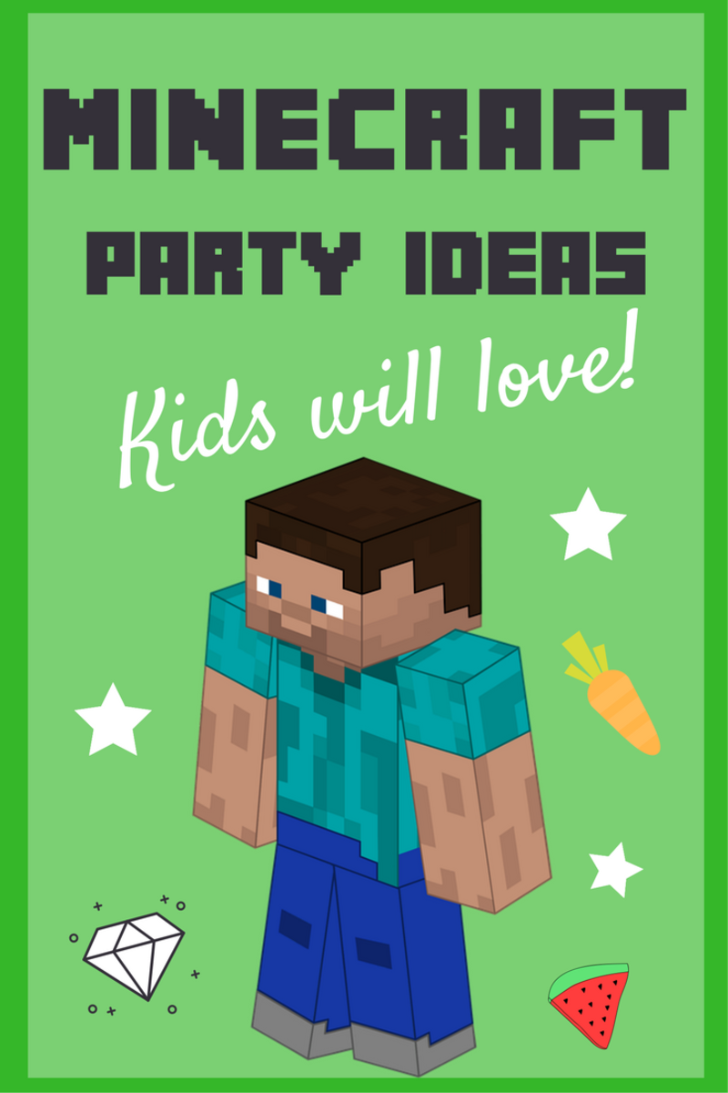 It is a graphic of Minecraft Party Ideas Printable pertaining to playstation 4