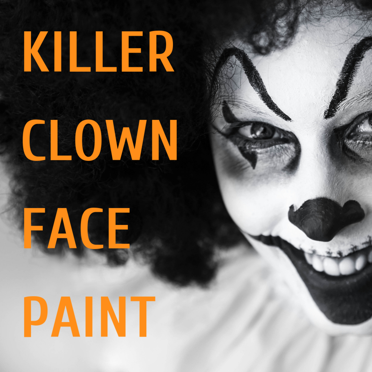 Killer Clown Halloween Face Paint Tutorial