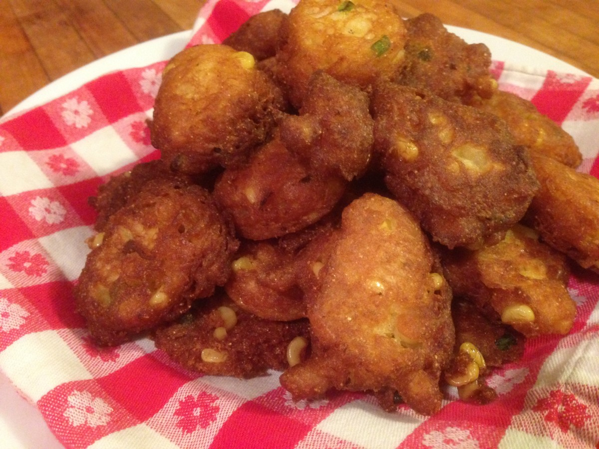 Who can resist these yummy corn fritters?