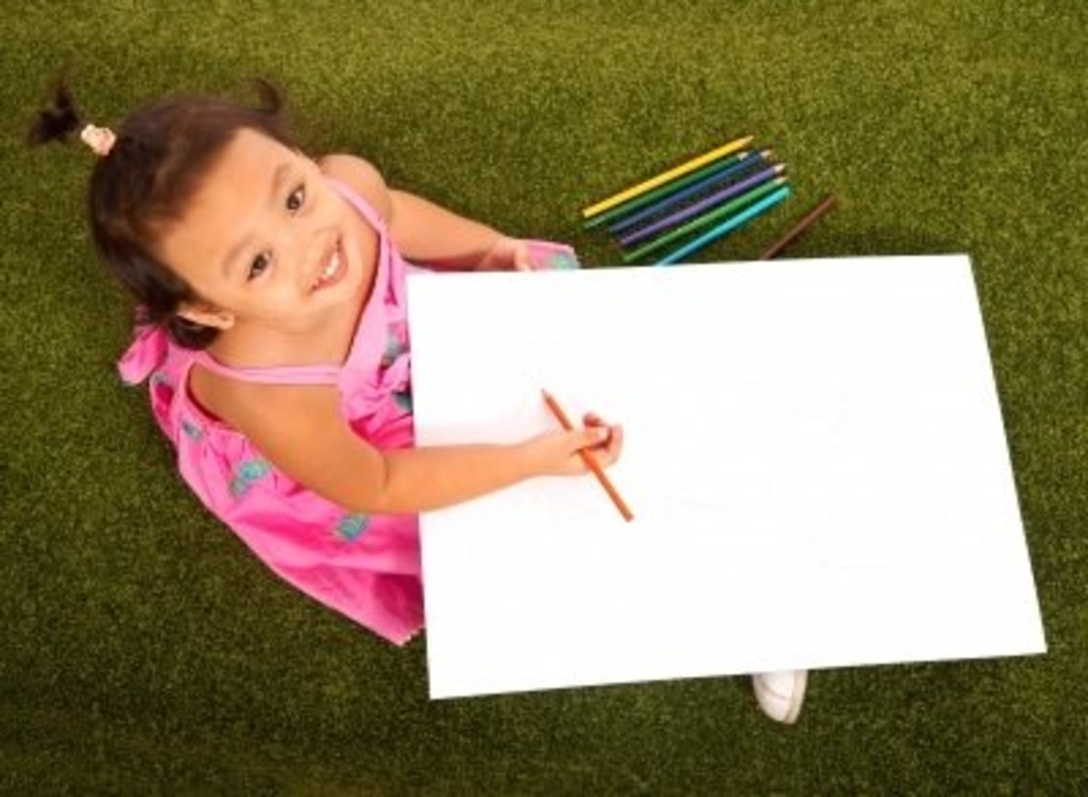 """""""Child Drawing With Pencils"""" by Stuart Miles"""