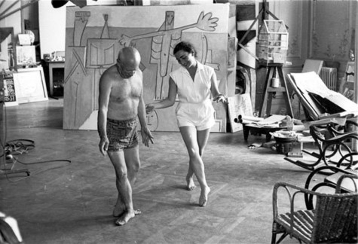 Picasso and Jacqueline in a dance routine.