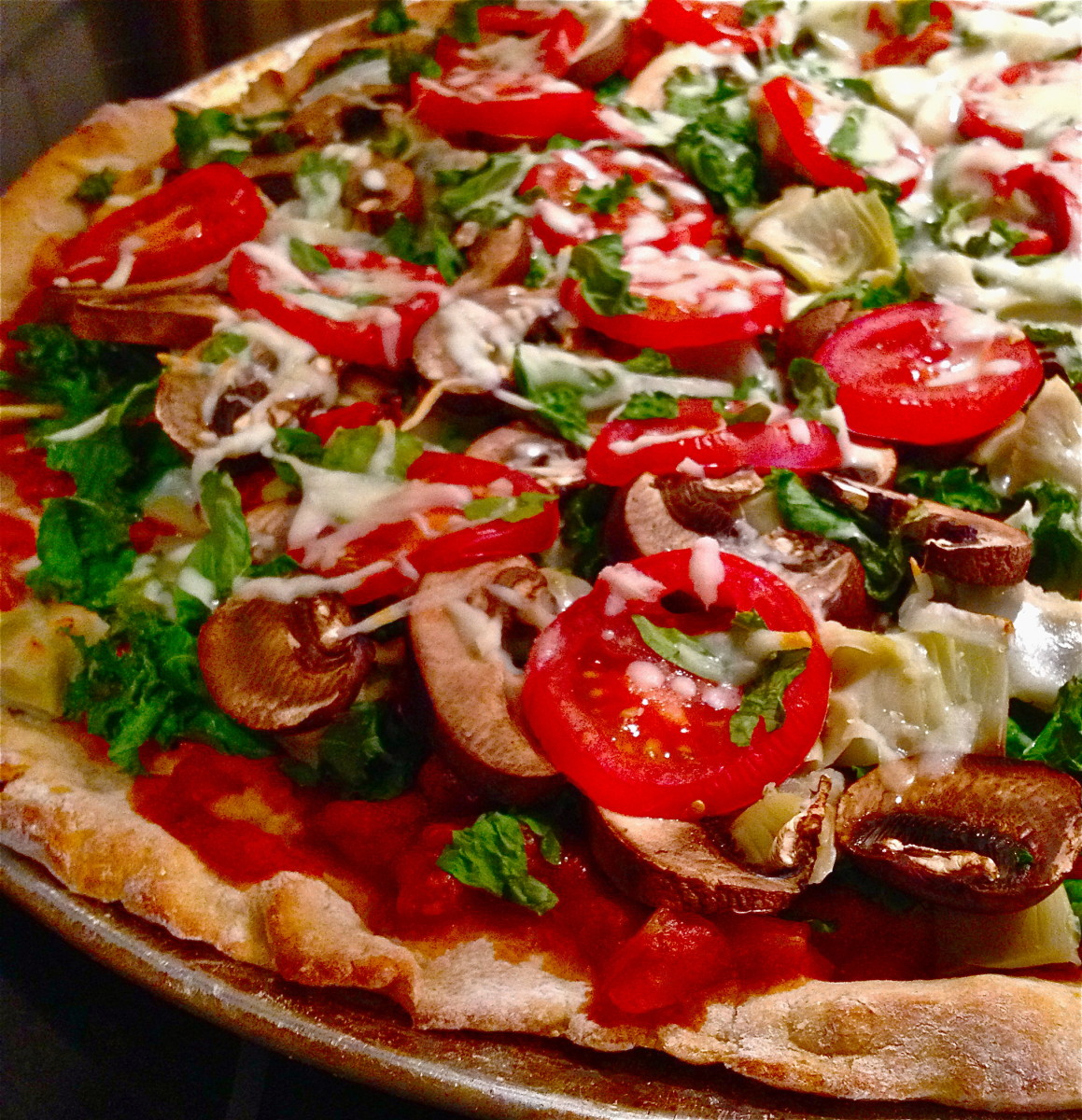 Creating a Pizza With Whole Wheat Crust, Sauce, & 15 Veggie Toppings