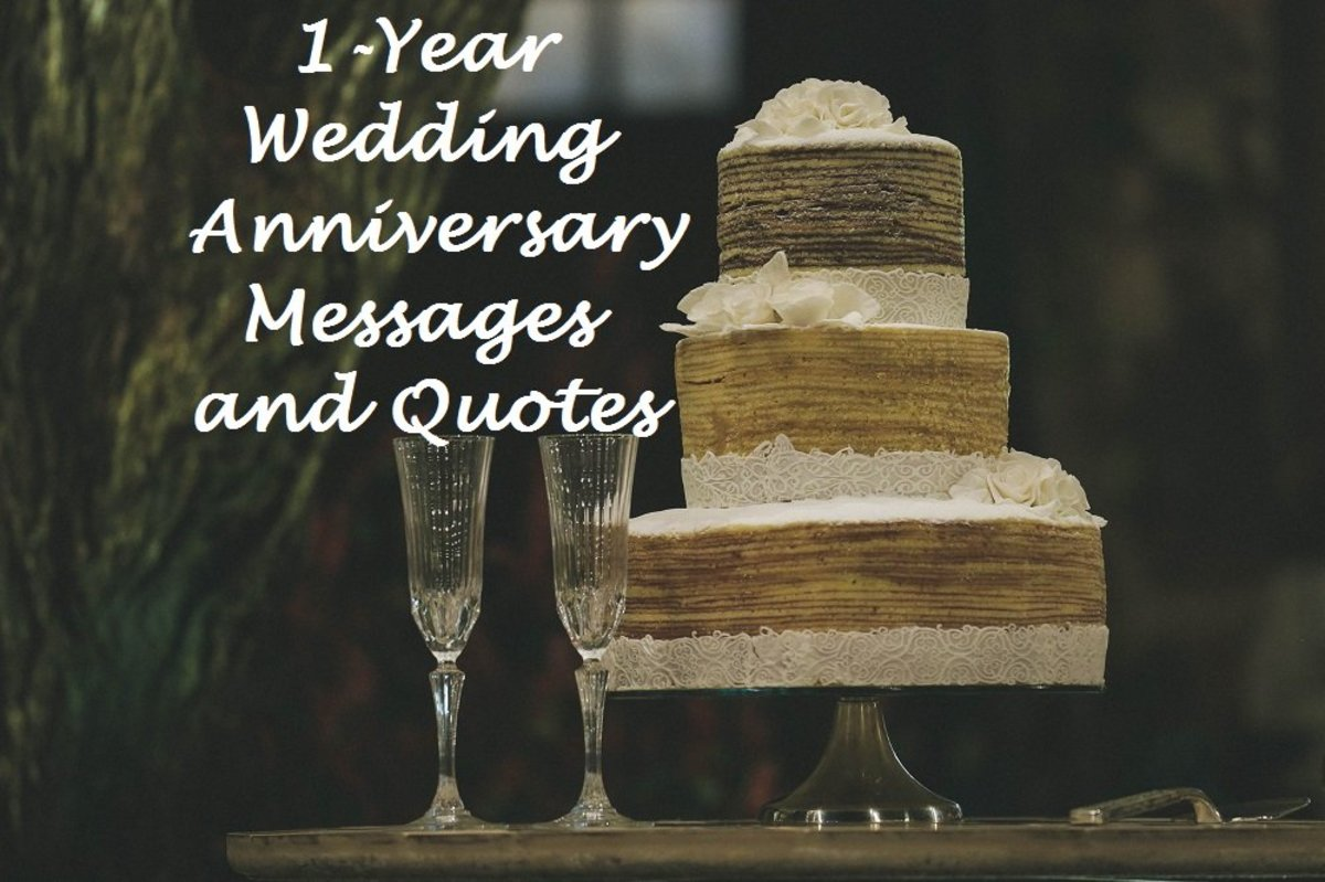 1-Year Wedding Anniversary Messages and Quotes