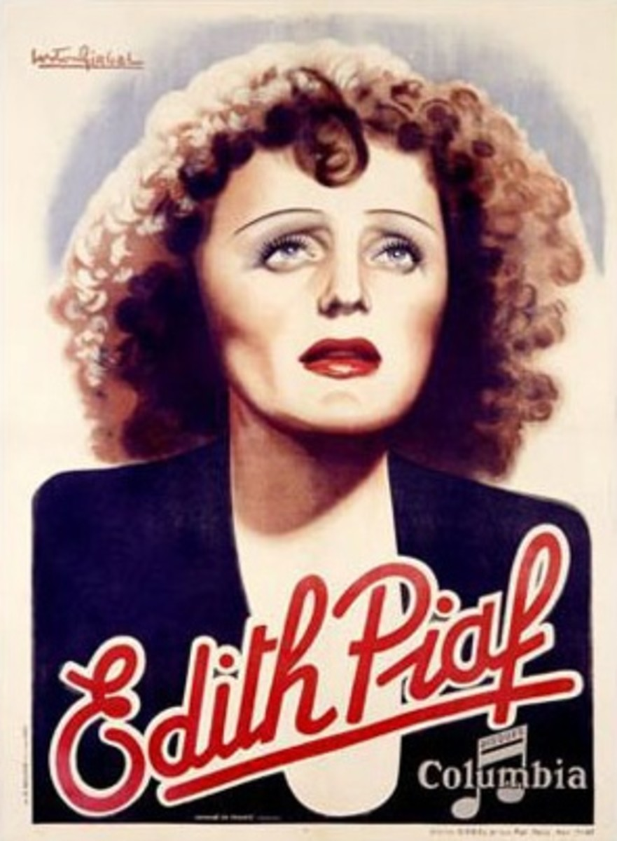 Édith Piaf made many albums with Columbia Records.