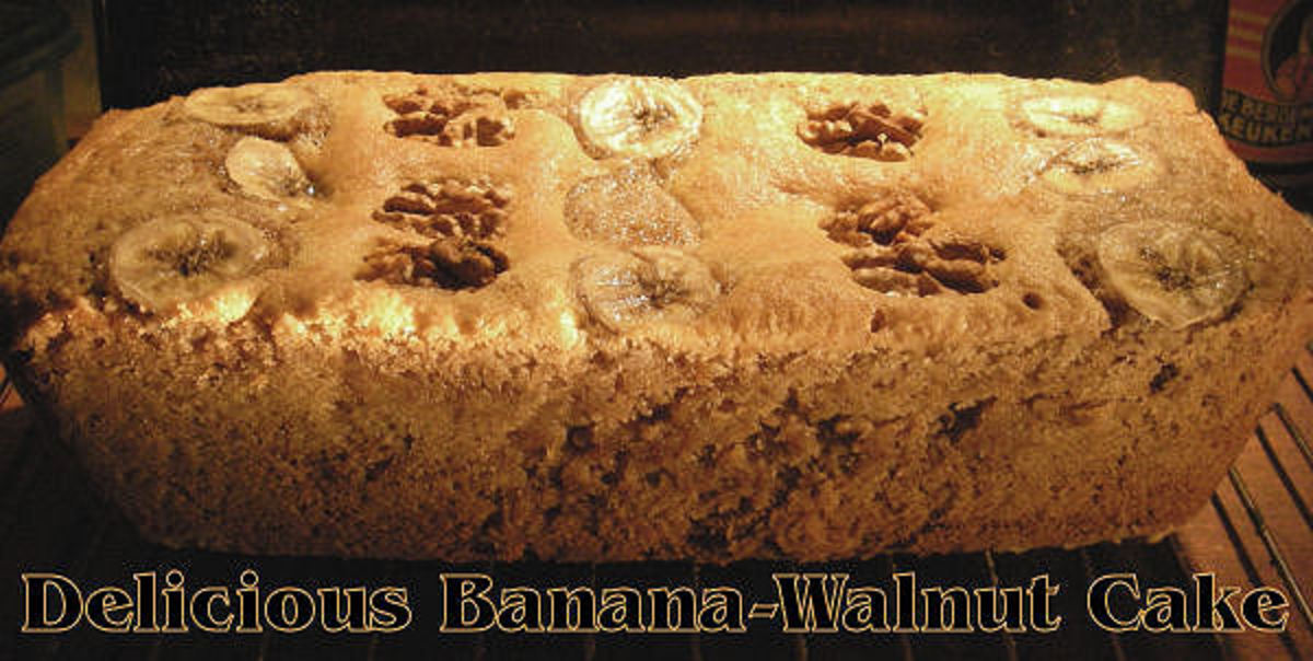 Homebaked Banana Walnut Cake