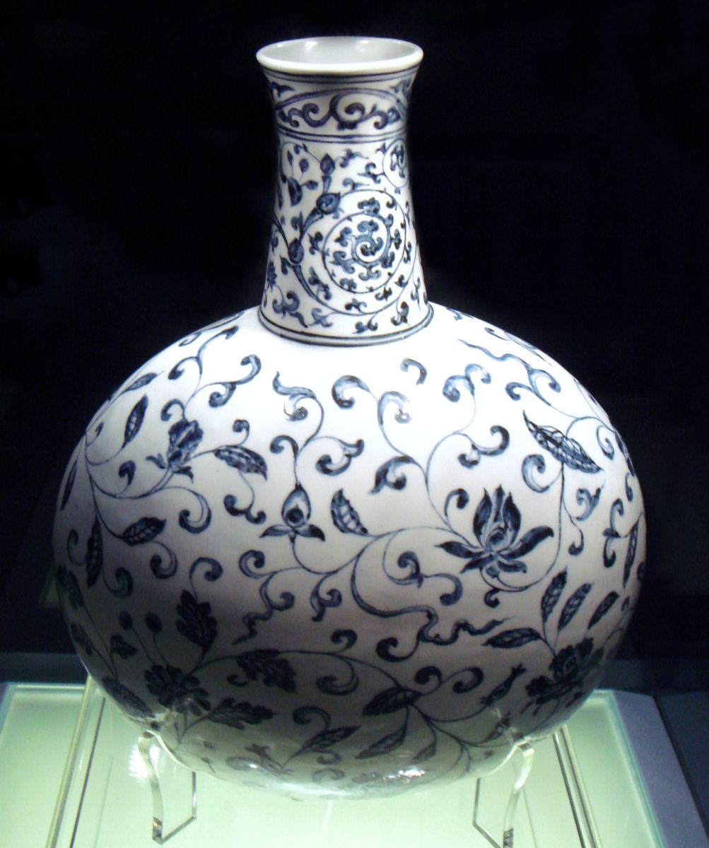 Ming Dynasty, Yongle period, 1403-1424. Jingdezhen porcelain vase