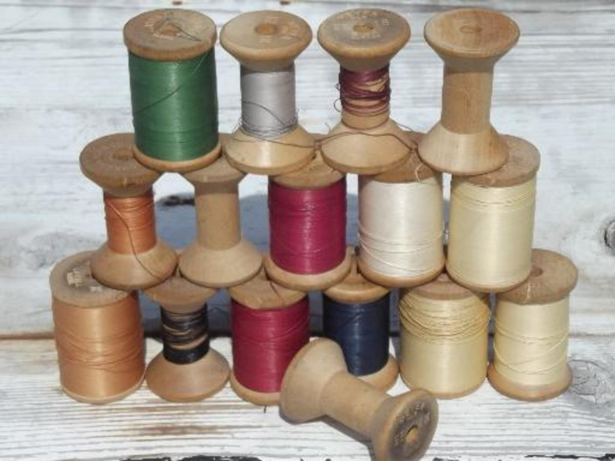 Heavy thread for sewing leather repairs is usually at least 1 mm in weight and you should choose the color closest to that of your leather item.