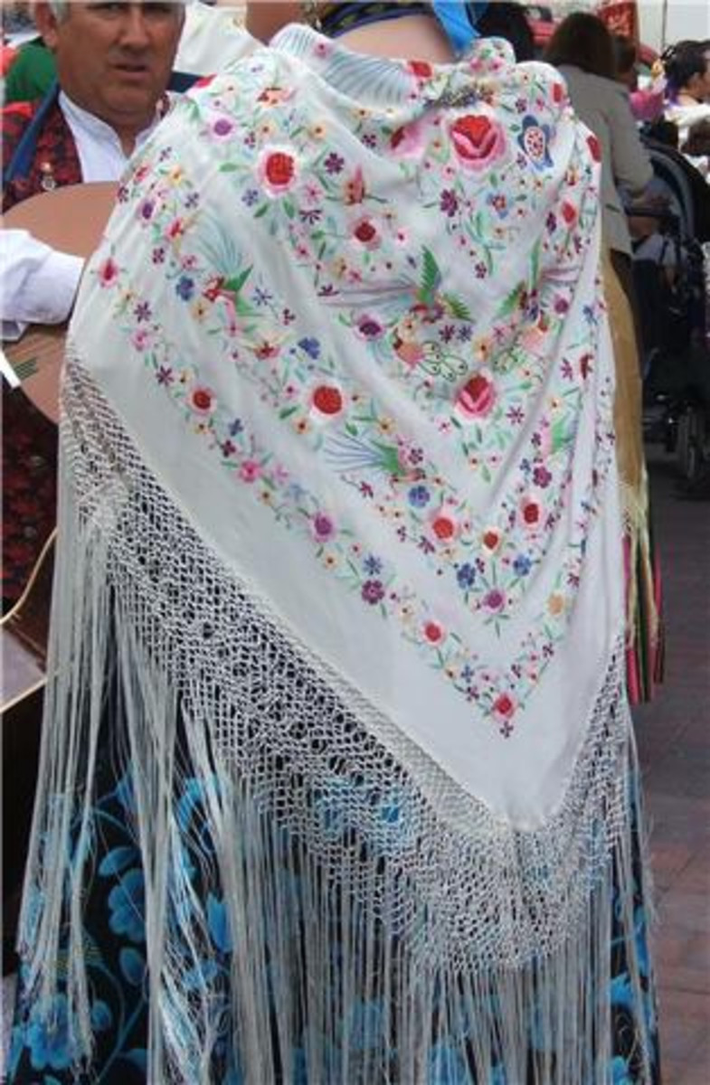 An Authentic Spanish Flamenco Shawl