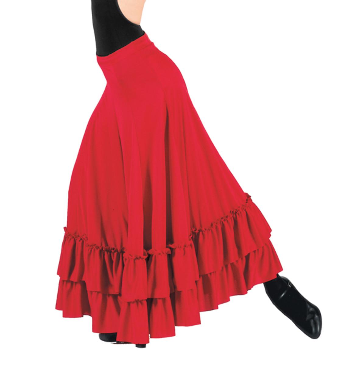 A good basic student flamenco skirt