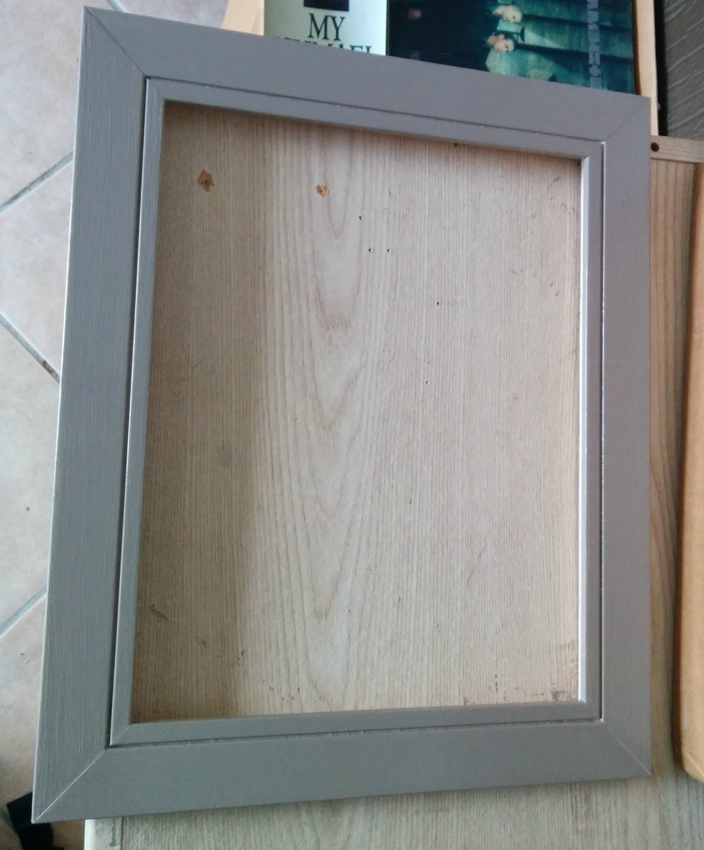 My frame during the repainting process.