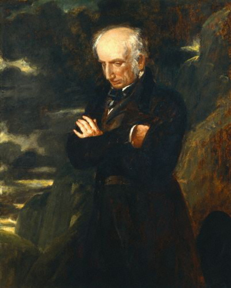 Wordsworth always had an inclination towards the divine is his writing, and all but renounced his life as a poet before he died.