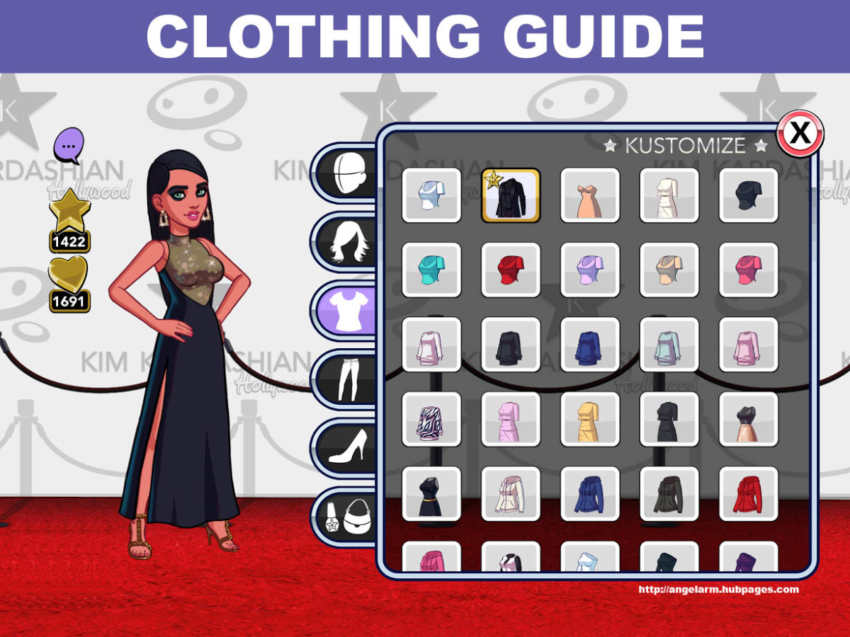"""Kim Kardashian: Hollywood"" Game Clothing Guide"