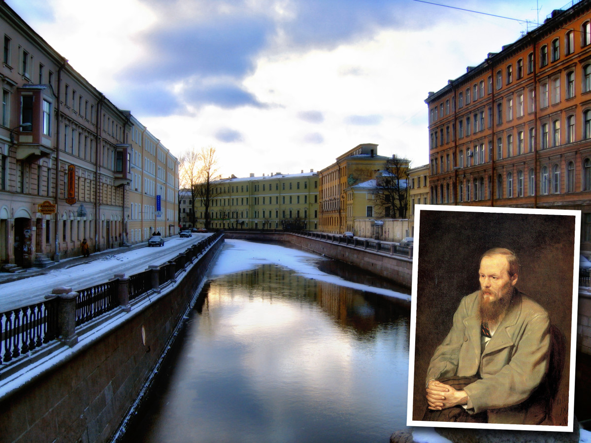 Griboiedov Canal in St. Petersburg, backdrop for Dostoyevsky's 'Crime and Punishment'