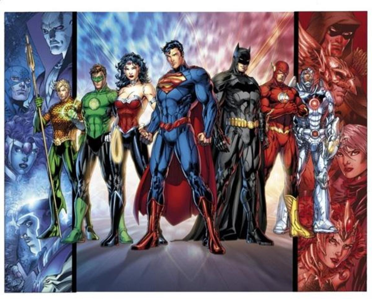 A few of DC's most famous heroes.