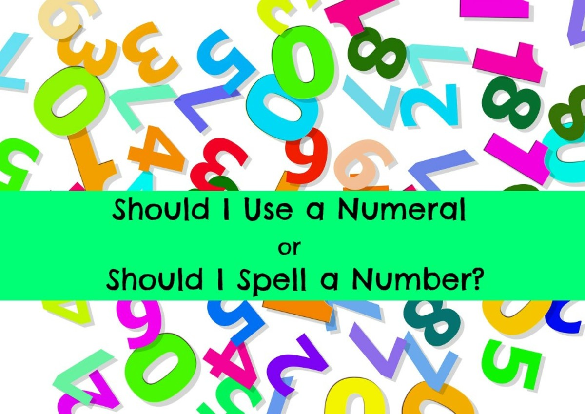 There are grammatical rules about when, and ho, numbers should be used in writing in English.