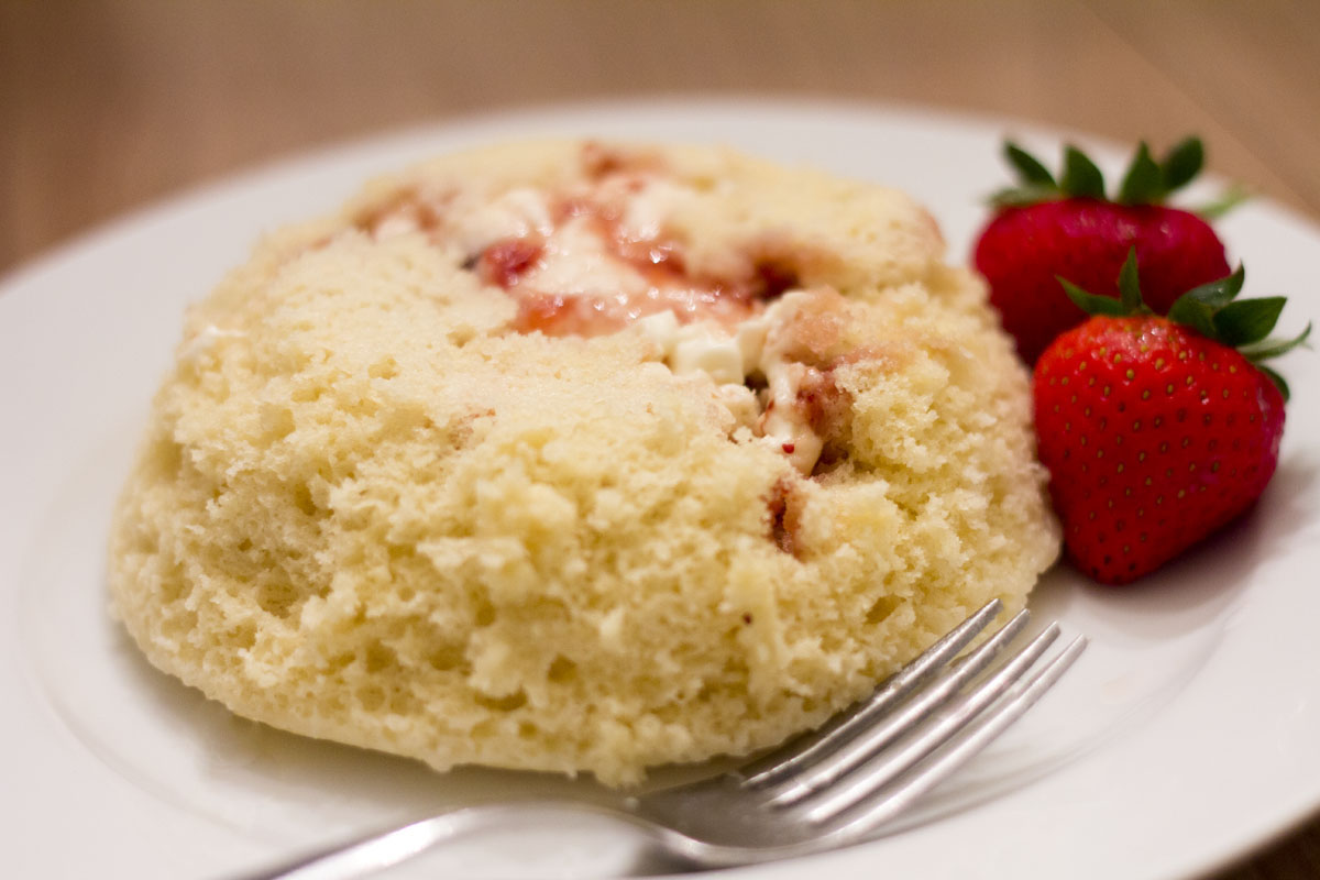 Microwave Waffle Lava Cake