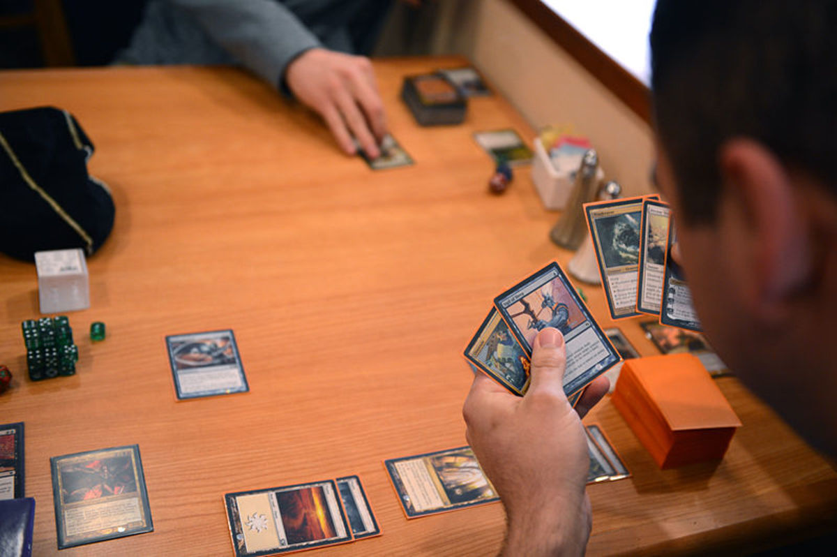 People playing Magic the Gathering