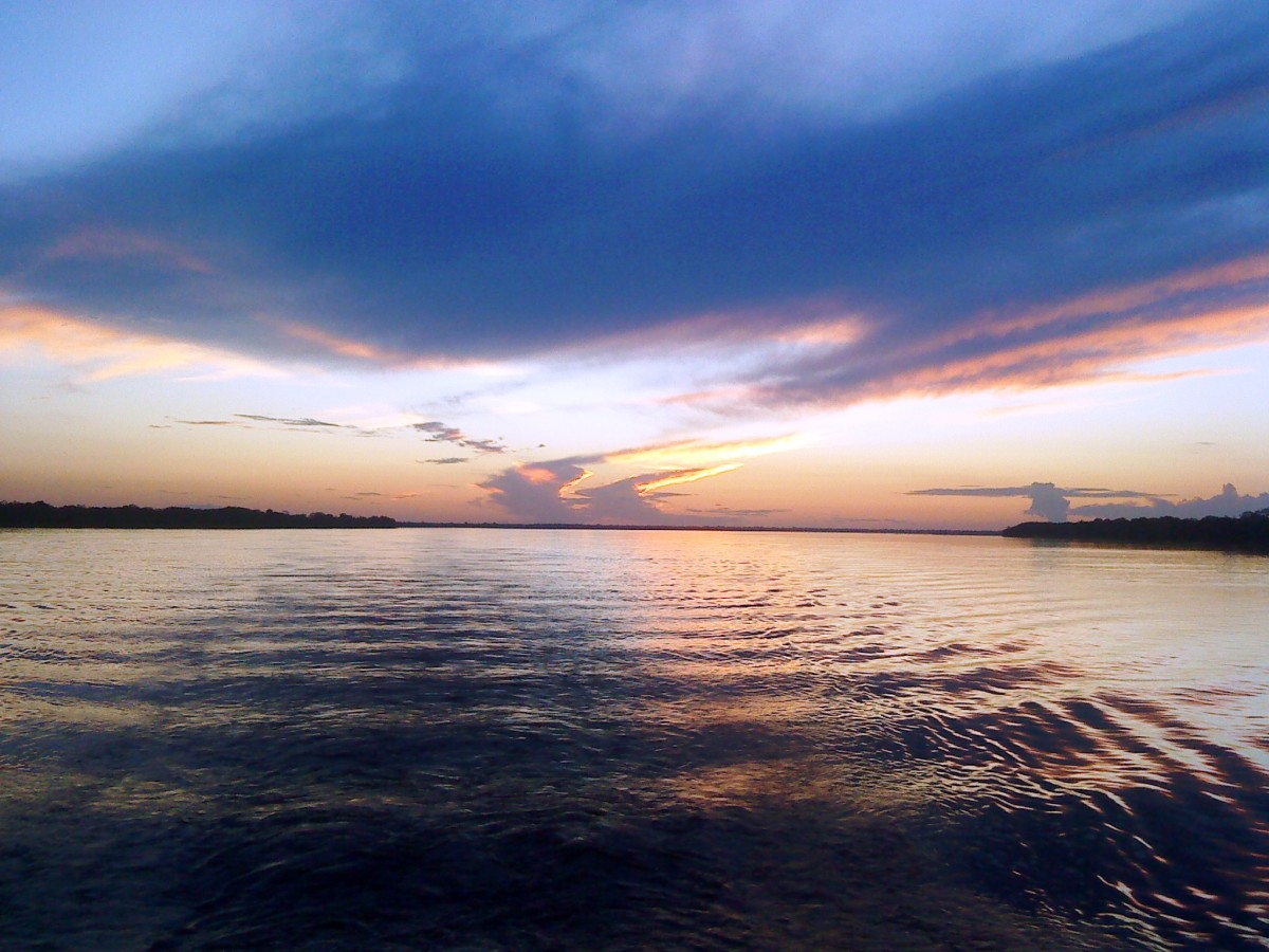 Amazon Sunset From Our Boat