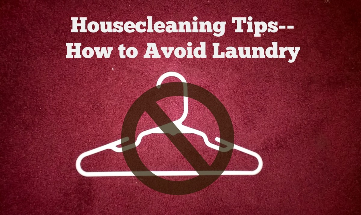 Housecleaning Tips for the Procrastinator--How to Avoid Laundry