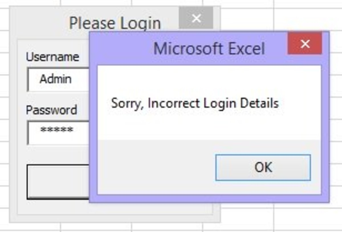 Excel VBA - Guide To Create A Login Form