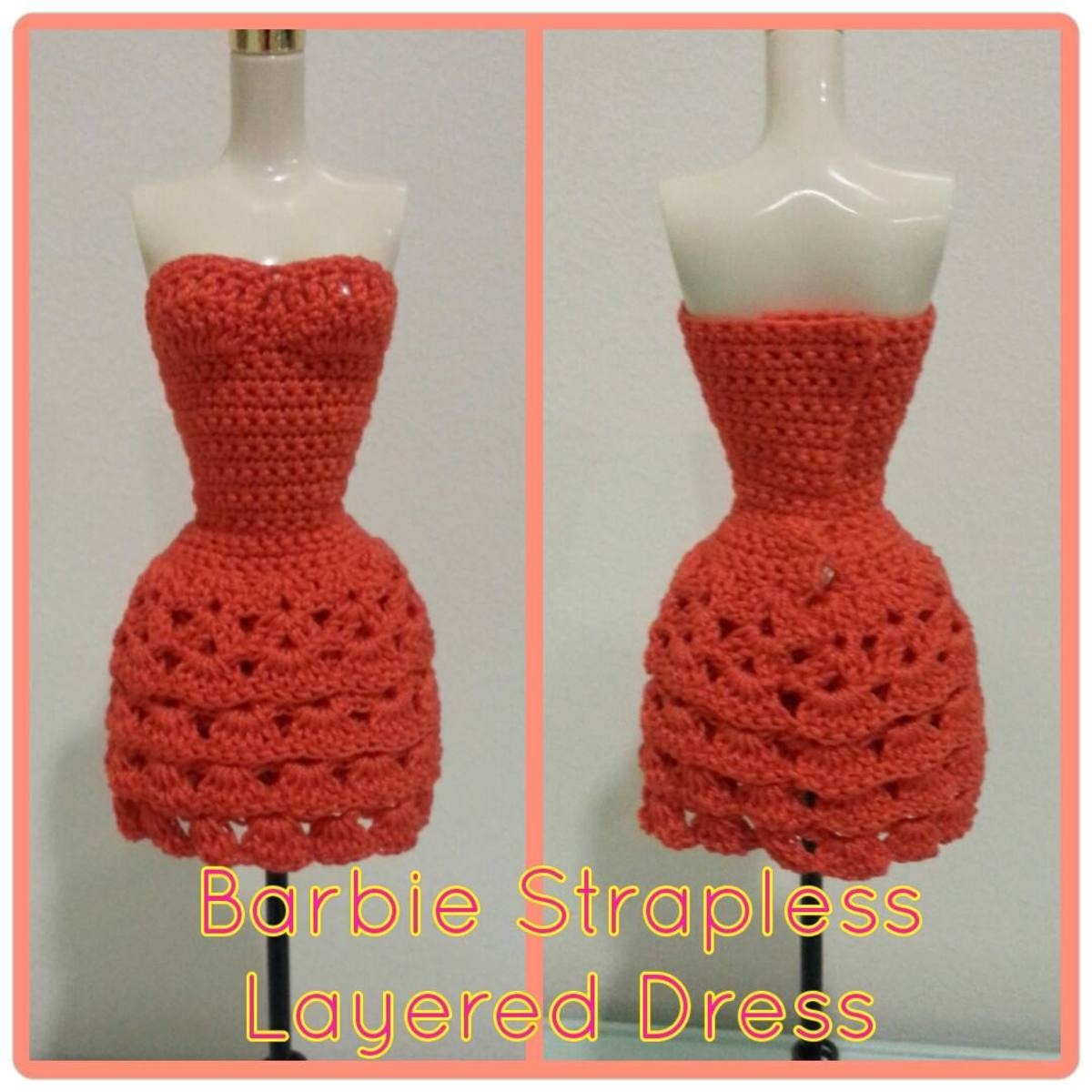 Barbie Strapless Layered Dress (Free Crochet Pattern)