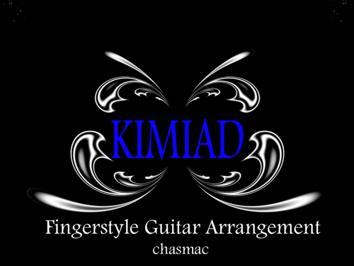Kimiad: Fingerstyle Guitar Arrangement in Standard Notation, Guitar Tab & Audio