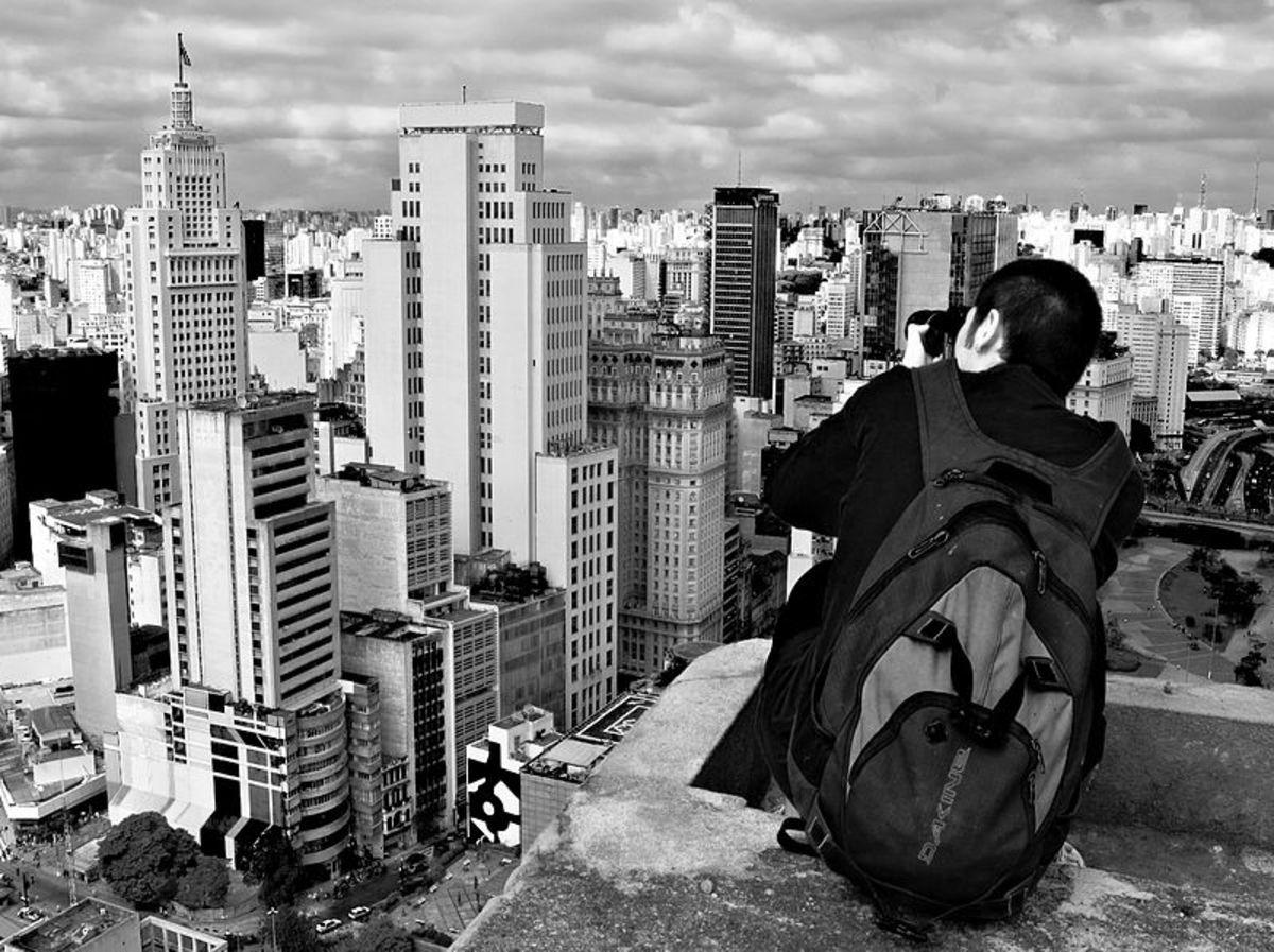Looking down on Sao Paulo