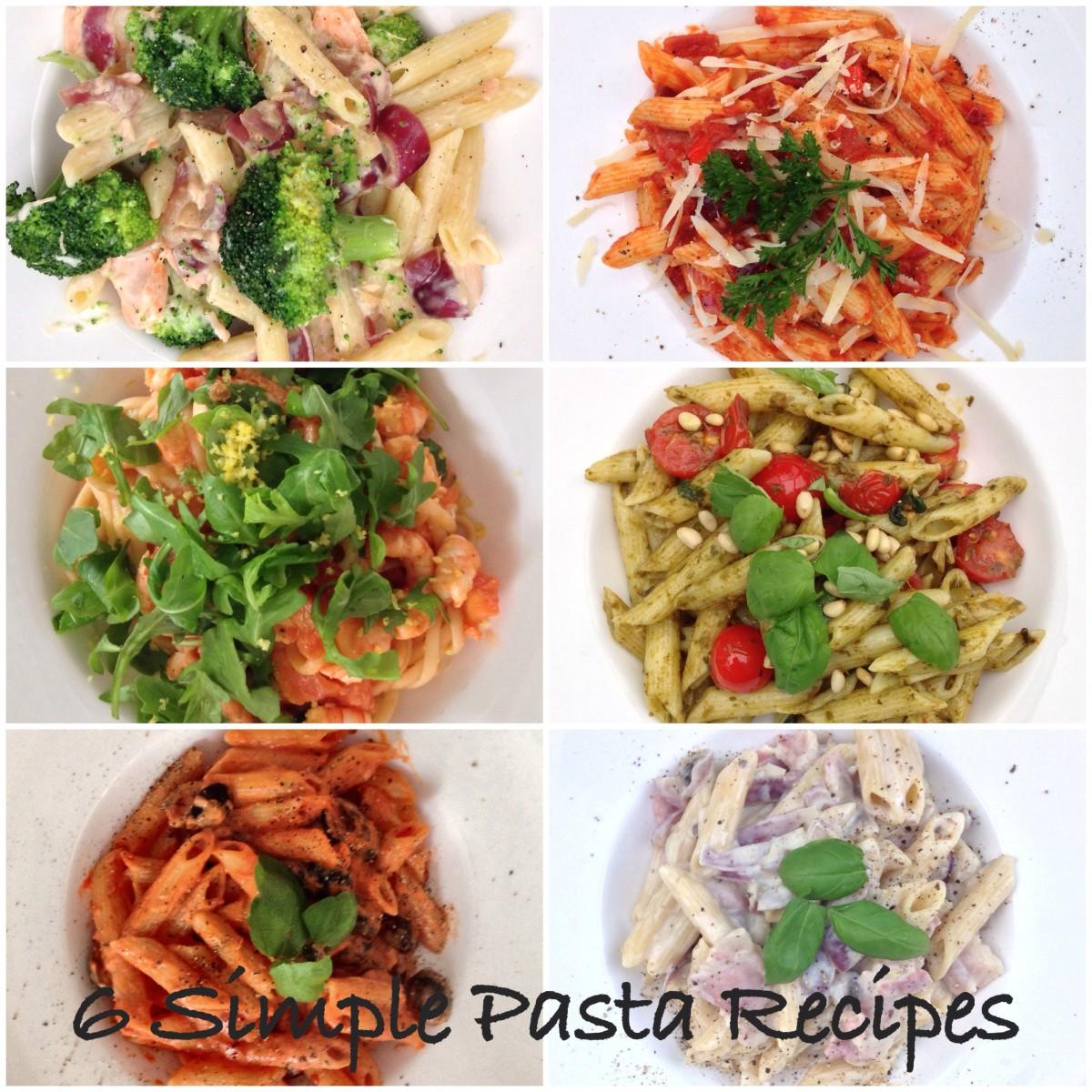 6 Quick and Easy Pasta Recipes