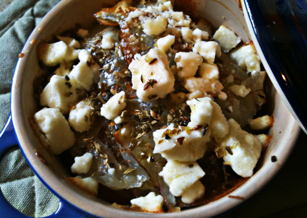 Individual Radish & Potato Gratins