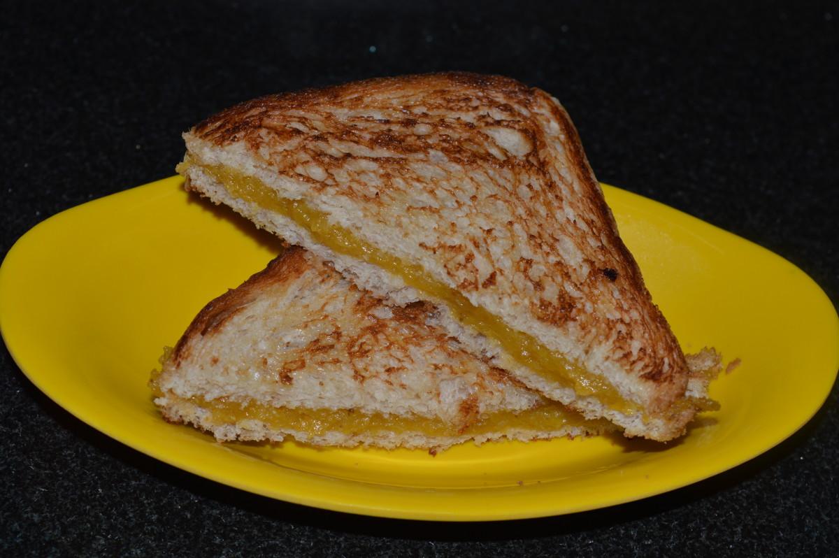 Ripe plantain(nendra banana) sandwich