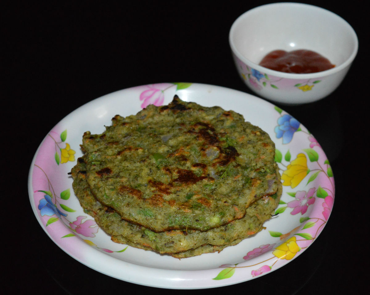 Green gram (AKA mung bean) pancakes