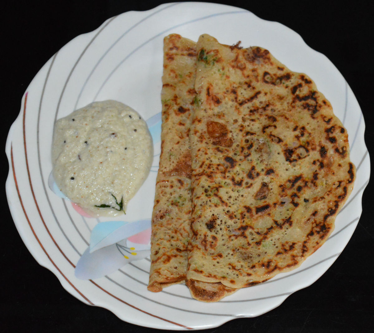 Spicy, Nearly Instant Wheat-Flour Pancake Recipe