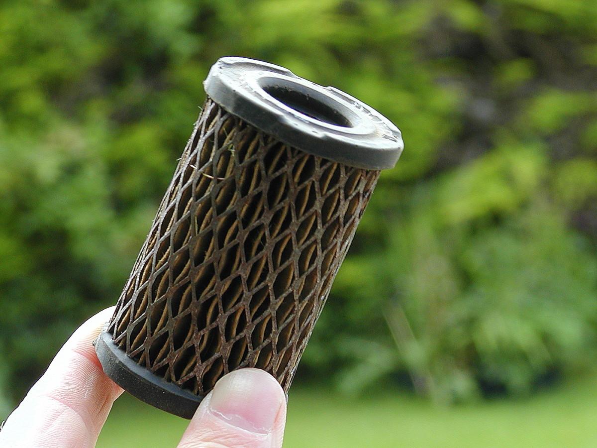 Paper air filter.