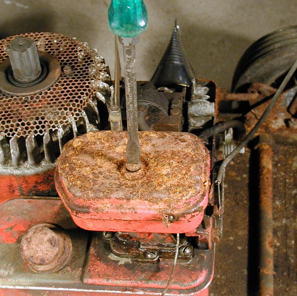 First remove the air filter.