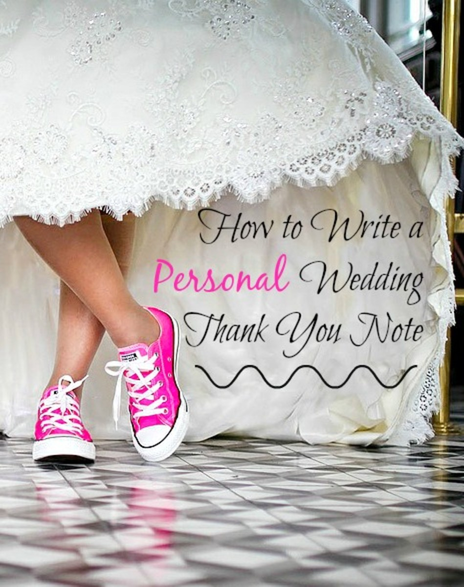 How To Write A Personal Wedding Thank You Note