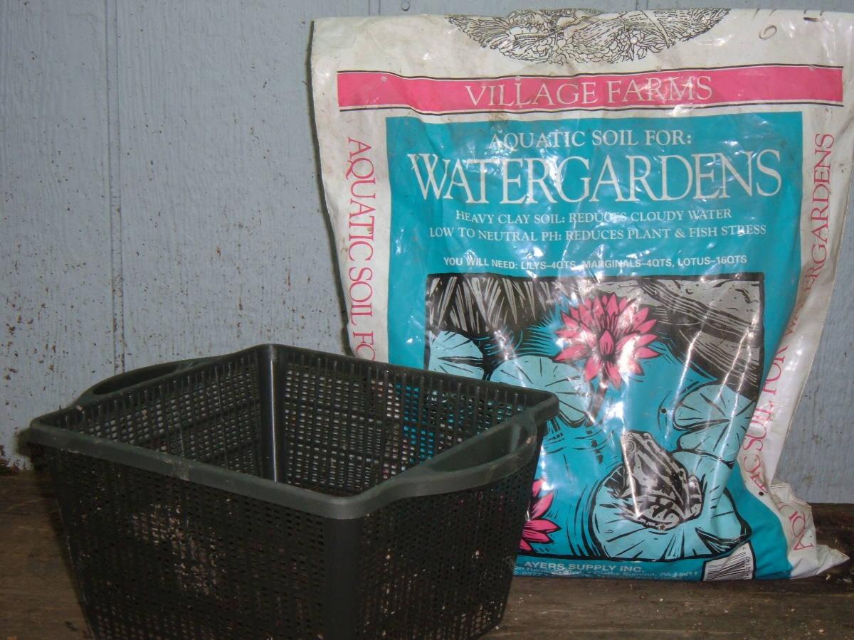 Water garden planting basket.