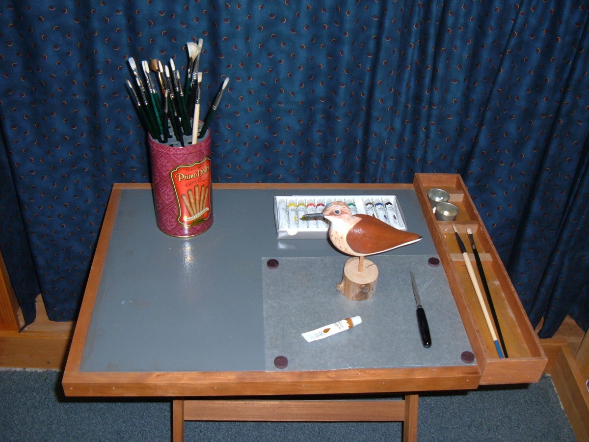 DIY artist brush holder and crafter tray