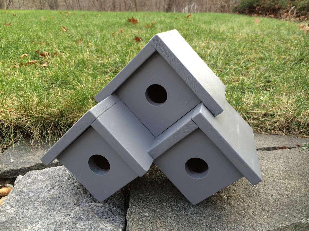 Three Unit Condo Birdhouse