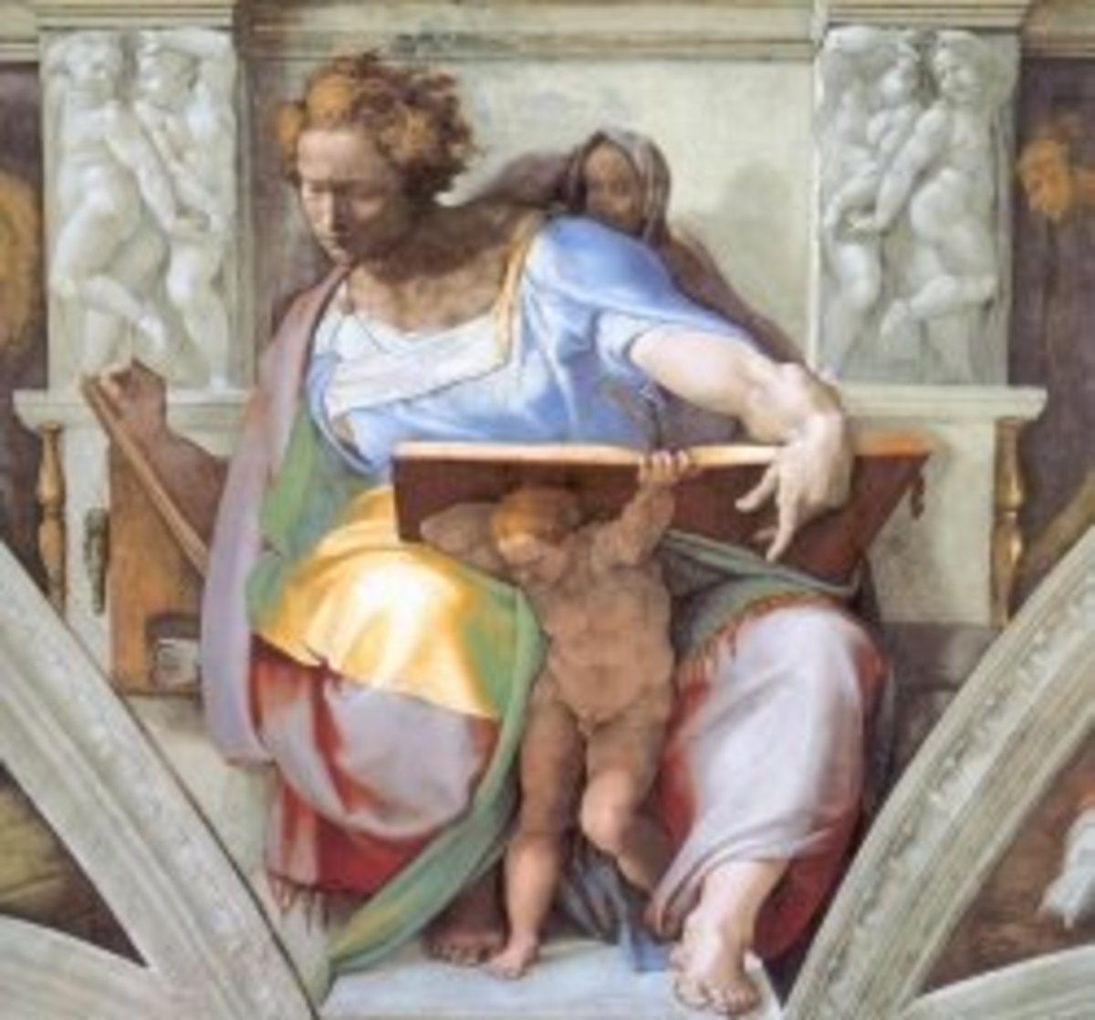 Section of Michelangelo's fresco of the Sistine Chapel
