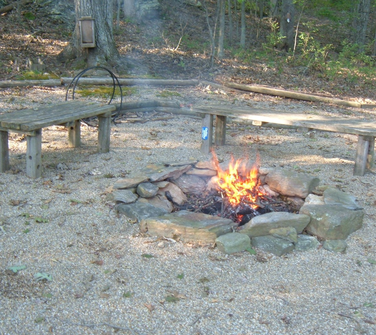 The fire pit is a favorite family gathering space