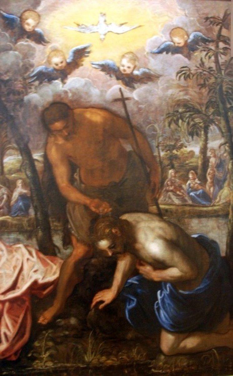"Tintoretto ""Baptism of Christ"""