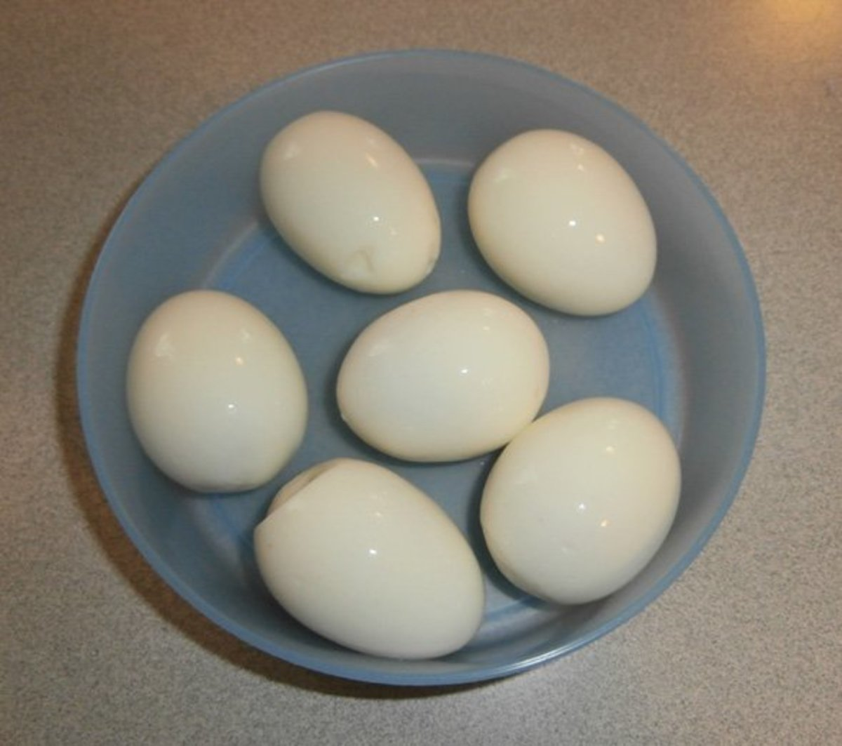 Let me show you how I peeled these hard boiled eggs.