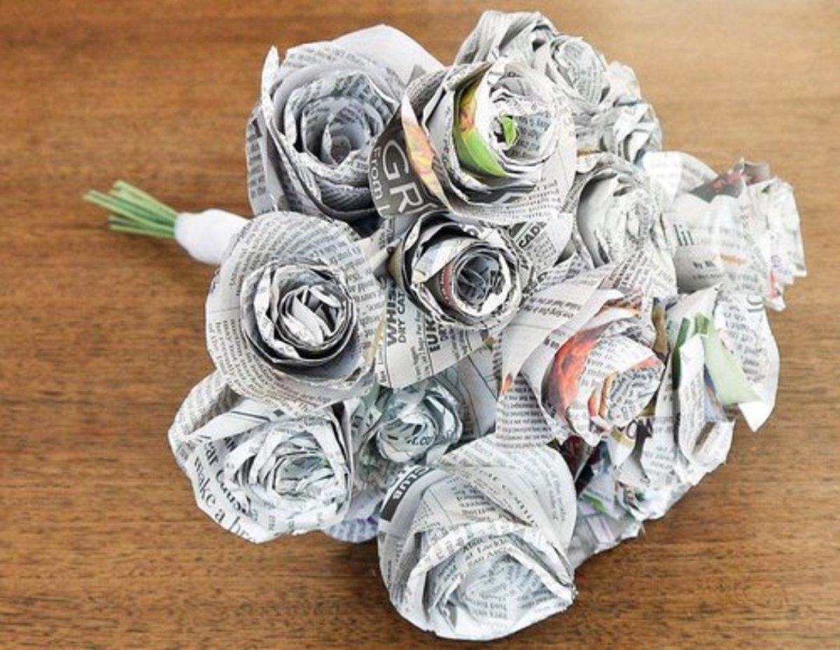 59 Amazing Crafts Using Newspaper