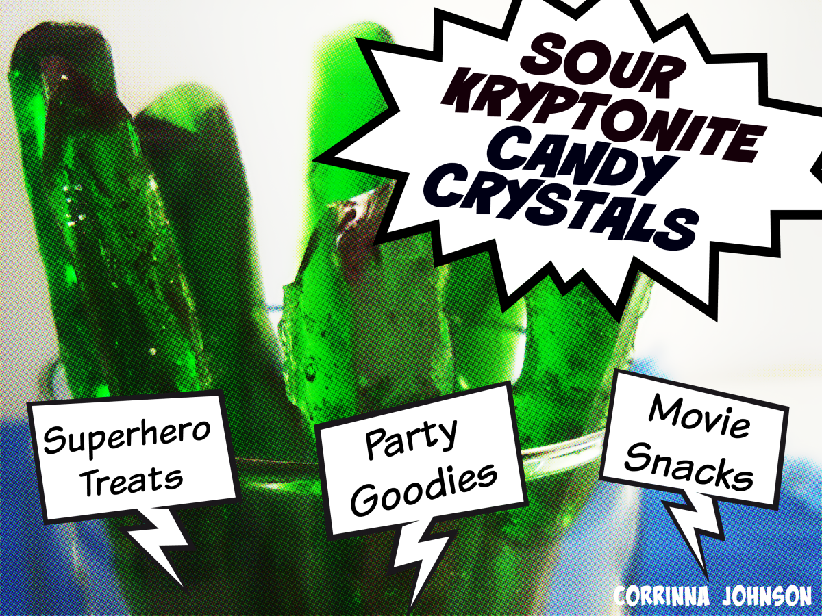 Superhero Snacks: Sour Kryptonite Candy Crystals