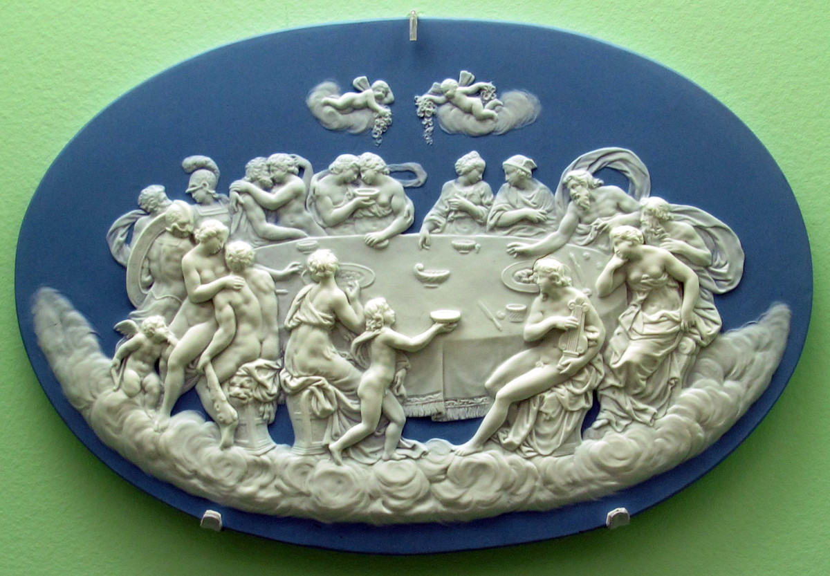 Wedgwood porcelain plaque.