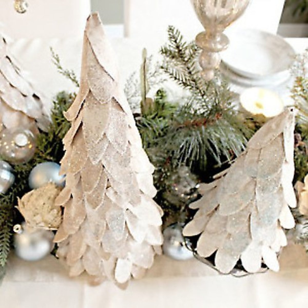 Tabletop Tree Ideas for Christmas Decorations