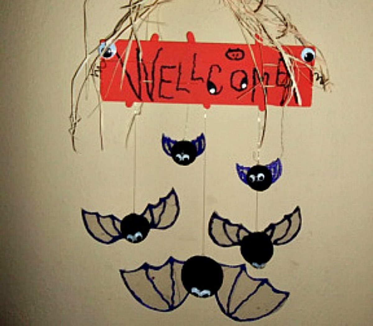 Bat Welcome Sign Craft