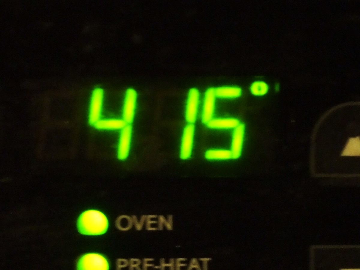 This oven is hot. Too hot!